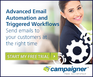 Try Campaigner FREE For 30 Days