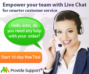 Try Provide Support Live Chat Now