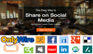 OnlyWire Instantly share your blog-post to social media