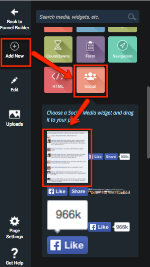 Social Widget for Facebook Comments