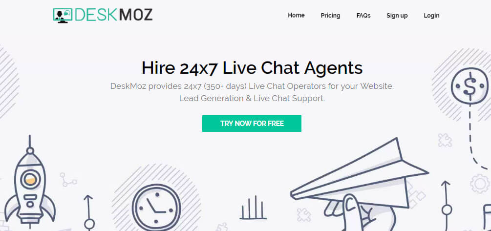 DeskMoz Review- Hire 24×7 Live Chat Agents to get You 3x More Leads