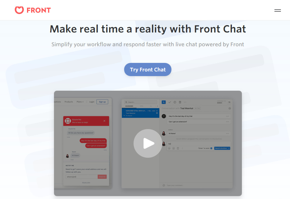Front Chat Review- Simple Ways to Chat with Visitors on your Website