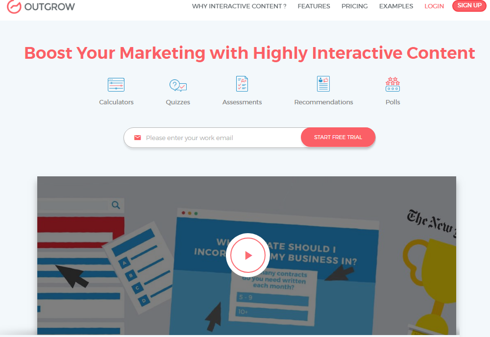 Outgrow Review- Best Way to Increase Your Marketing Engagement
